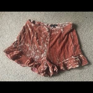 Kendall and Kylie velvet shorts